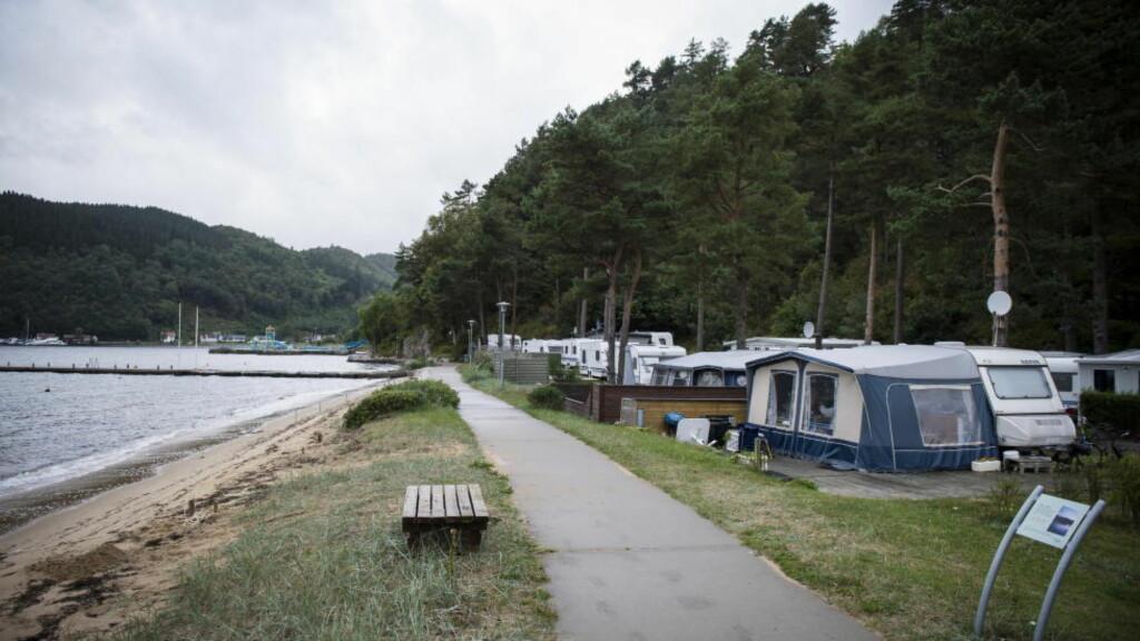CAMPET HER: TIna Jørgensen og de siktede i drapssaken møttes på Rosfjord campingplass utenfor Lyngdal.  Foto: Øistein Norum Monsen / Dagbladet