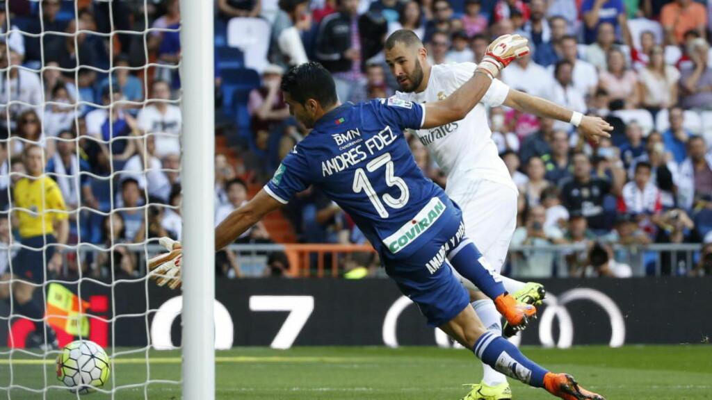 AVGJORDE:  Her sikret Karim Benzema Madrid-seieren.  Foto: NTB Scanpix