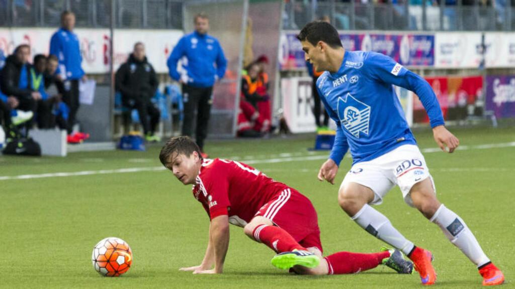 LER: RBKs Pål André Helland ler av Molde-leirens påstander om at de egentlig er best. Foto: Svein Ove Ekornesvåg / NTB scanpix