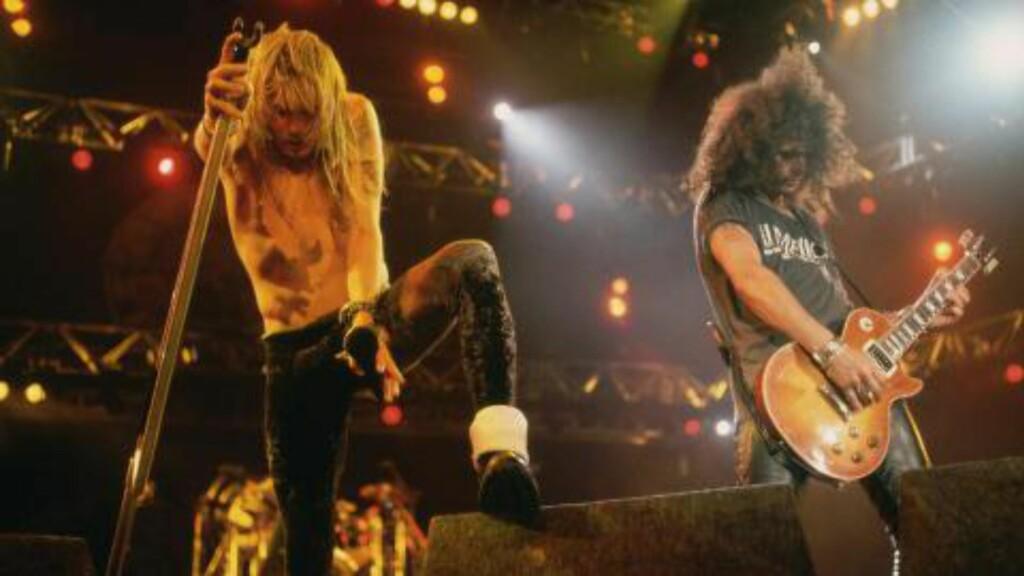SAMMEN IGJEN: Axl Rose og Slash har funnet sammen igjen, og gjenforenes til en stor USA-turne neste år. Foto: NTB Scanpix