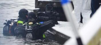 På sjøens bunn fant de en druknet mann med et kvinnehode i betong