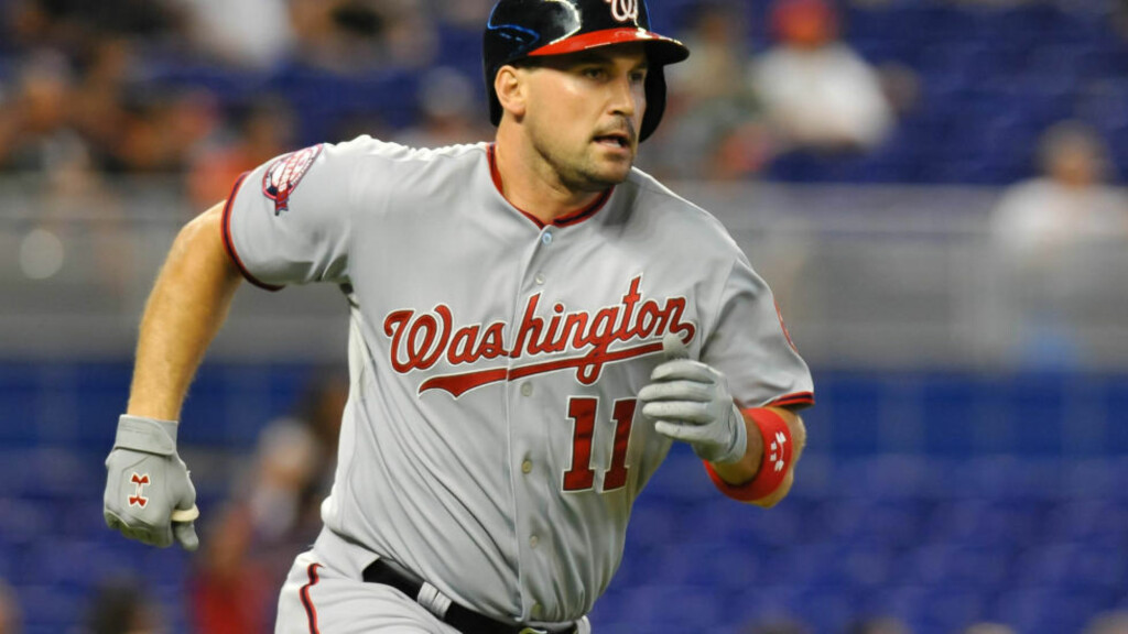 FORBANNA: Baseballspillerne Ryan Zimmerman og Ryan Howard gikk tirsdag til injuriesøksmål mot TV-kanalen Al Jazeera. Foto: REUTERS/Steve Mitchell-USA TODAY Sports/Files