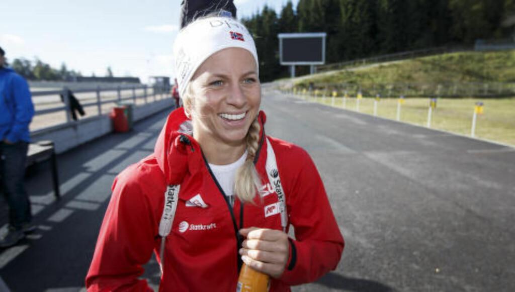 SMILER IGJEN: Smilet er aldri langt unna for Tiril Eckhoff når ting er som de skal være. Foto: Gorm Kallestad / NTB Scanpix
