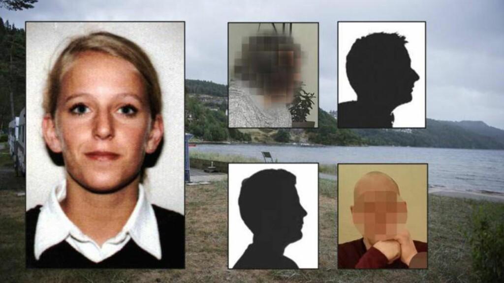 FIRE PÅGREPET:  Fire jevngamle menn med tilknytning til bygdekommunen Lyngdal er siktet og pågrepet for drapet på Tina Jørgensen fra 2000. Foto: NTB Scanpix / Privat