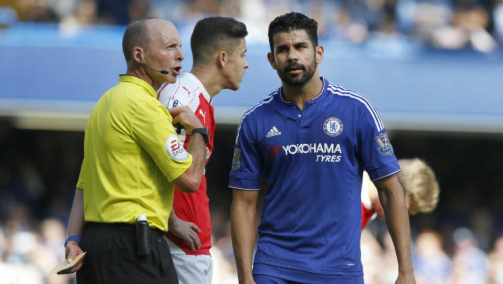 UPOPULÆR: Diego Costa får kritikk fra alle hold om dagen. Foto: AP Photo/Alastair Grant