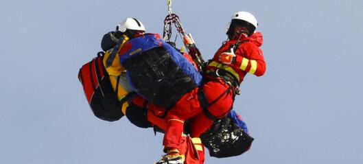 Forferdelige scener: Sejersted hentet av helikopter etter stygt fall