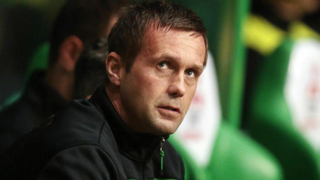 MOTGANG: Celtic-trener Ronny Deila har ikke fått den beste starten på sesongen. Manchester United-legenden Gary Neville tror ikke fremtidsutsiktene er så mye lysere. Foto:  Action Images via Reuters / Graham Stuart