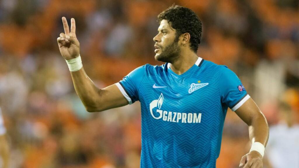 BLE HETSET: Hulk begynner dessverre å bli vant til rasistisk hets i russisk fotball. Nå har han begynt å svare med luftkyss. Foto: Maria Jose Segovia Carmona / Demotix / Corbis / NTB Scanpix