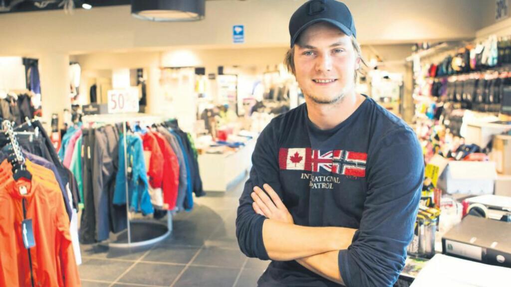 SPORT: Thomas Myrvold i Trysilfjell Sportshop tror at fire sportsbutikker i Trysil klarer seg fordi de satser på ulike segmenter. Foto: Jørgen Hyvang / Finansavisen