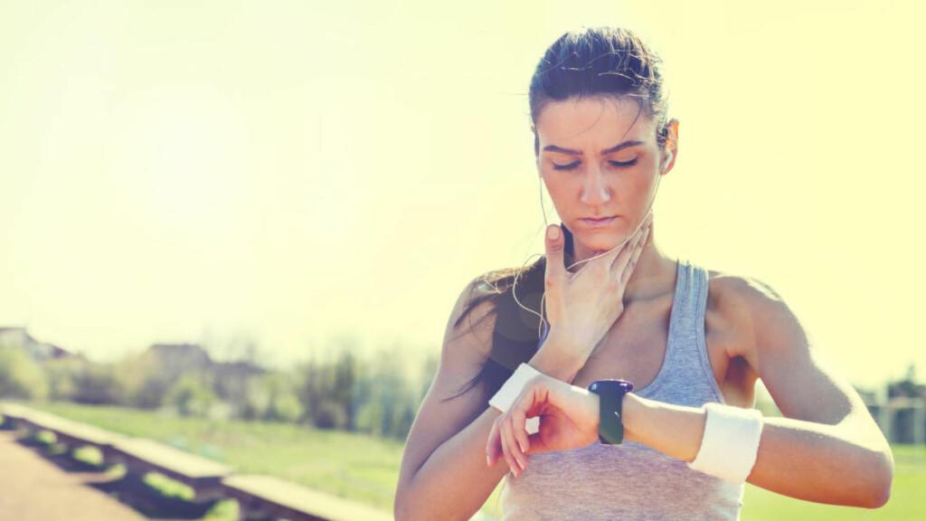 HJERTESLAG: Å måle pulsen under trening kan gi deg gode tilbakemeldinger på både form, intensitet og stress. Foto: NTB Scanpix / Microstock