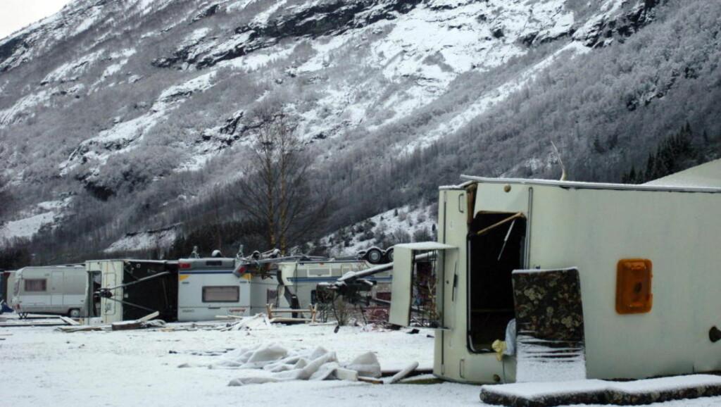 «DAGMAR» HERJET I 2011: Orkanen «Dagmar» slo til med full kraft på Nordvestlandet i 2011. Foto: Fridgeir Walderhaug