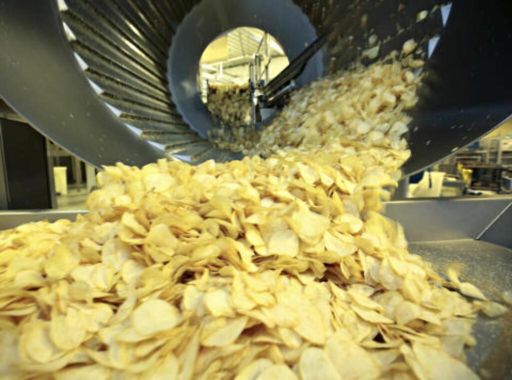 GULLGRUVE: Produksjonen av potetgull har siden 70-tallet ligget på 2500-.3000 tonn per år.