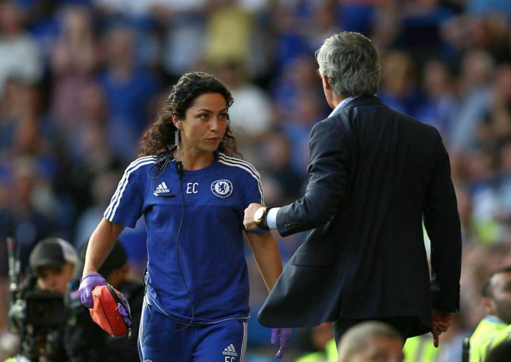 KJØLIG FORHOLD: Josè Mourinho og Eva Carnerio skal ikke være på talefot etter hendelsen. Foto: BPI/REX Shutterstock/NTB Scanpix
