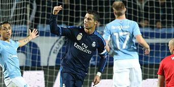 image: Her har Ronaldo akkurat rundet 500 mål (!) - mot Hareides Malmö