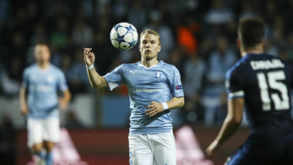 IMPONERT: Malmös stortalent Oscar Lewicki mener Real Madrid kunne spille med langt høyere risiko enn svenskene. Foto: Andreas Hillergren / TT / NTB Scanpix