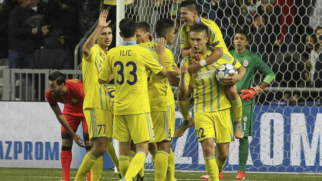 UAVGJORT: Astana utlignet til 2-2 hjemme mot Galatasaray. Foto: Scanpix