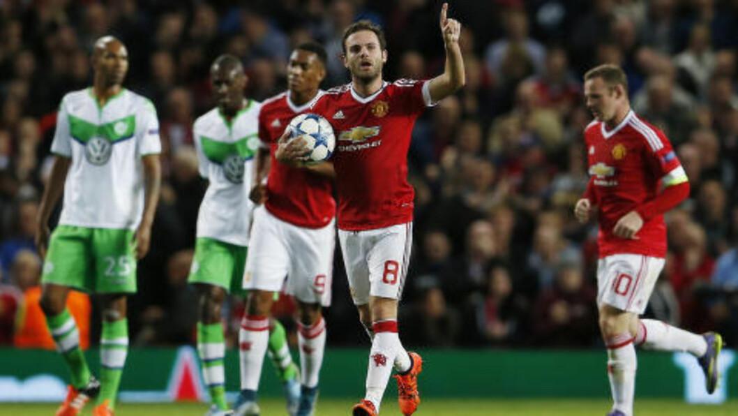 MATA-MAGI: Juan Mata spilte en meget god kamp for Manchester United. Foto: Scanpix