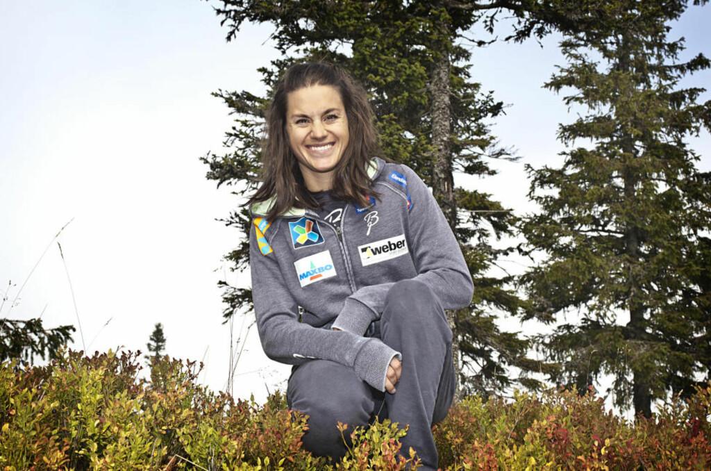 JULESTJERNE: Sist vinter var Heidi Weng i form hele sesongen, og ikke bare mot slutten, slik hun har hatt for vane. Hun håper det betyr at hun har knekt kodem. Foto: Tormod Brenna