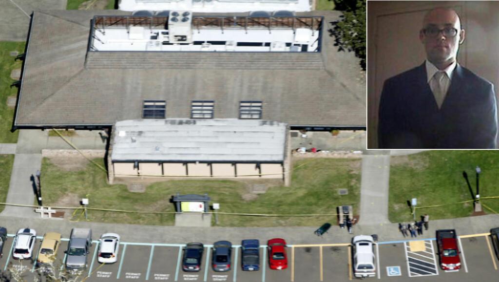 13 SKYTEVÅPEN:  Chris Harper Mercer skjøt og drepte ni personer på Umpqua Community College i byen Roseburg i Oregon torsdag kveld, før han selv ble drept i en skuddveksling med to polititjenestemenn. Han hadde med seg seks våpen inn på skolen.