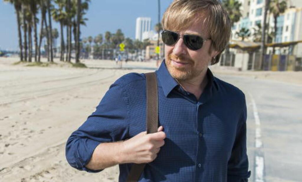 Los Angeles 20150219:» Filmregissør Morten Tyldum har regissert filmen Immitation Game som er nominert til 8 Oscar. Her på Santa Monica Beach kun tre dager før prisutdelingen. Foto: Endre Vellene