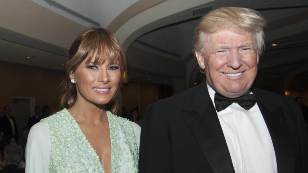 PAR I HJERTER: Eiendomsmogulen Donald Trump trekker blant annet fram kona Melanias store hjerte når han skryter av hennes førstedameegenskaper. Foto: Christy Bowe / Polaris