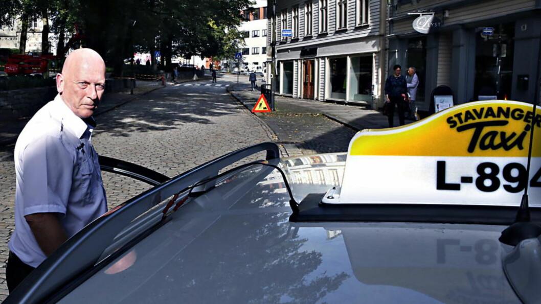 <strong>FRYKTELIG:</strong> Taxisjåfør Øystein Helmikstøl i Stavanger merker godt ringvirkningene av krisa i oljebransjen. Foto: Jacques Hvistendahl / Dagbladet