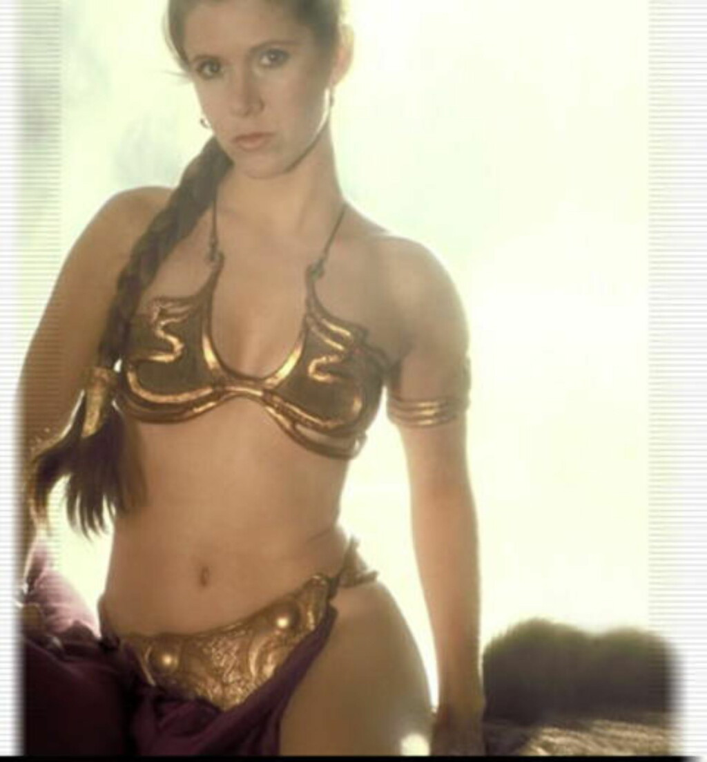 PRINSESSEBUNAD:  Carrie Fisher, som Prinsesse Leia, i den tredje Star Wars-filmen.