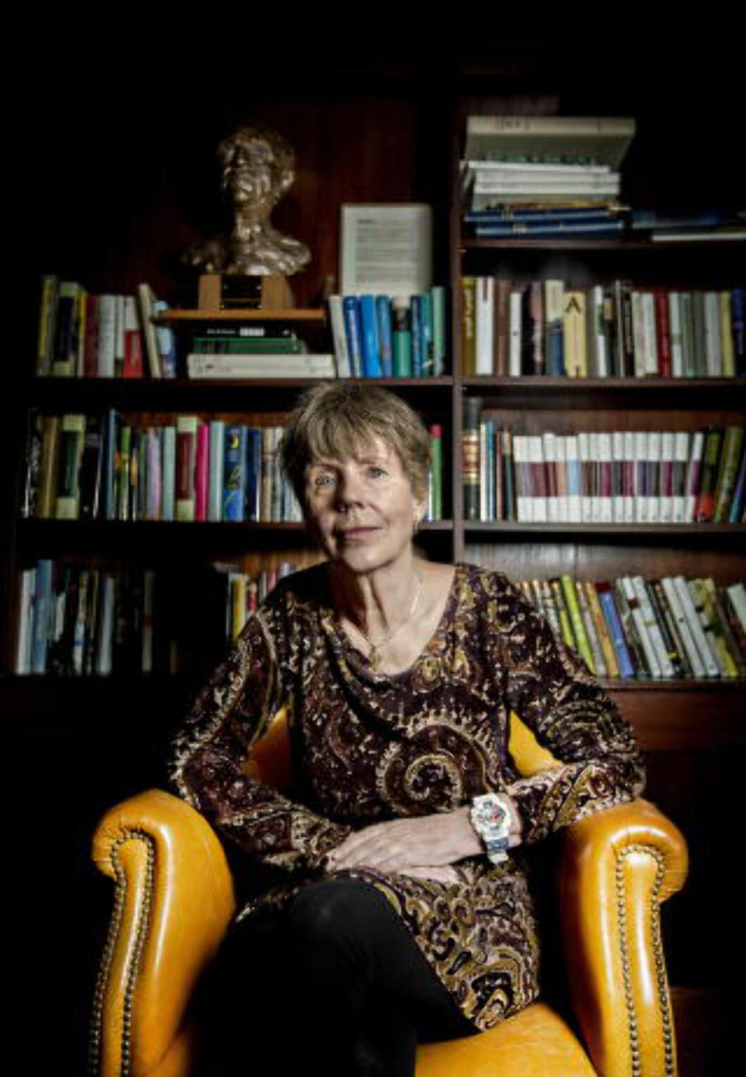 <strong>-ENESTÅENDE:</strong> - Jeg ble så lei meg, han var enestående, sier forfatter Karin Fossum. Foto: Anita Arntzen / Dagbladet