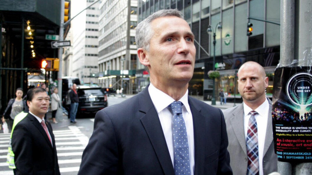 FORDØMMER:  NATO-sjef Jens Stoltenberg fordømmer krenking av tyrkisk flyrom. Foto: Daniel Rosenquist / NTB scanpix