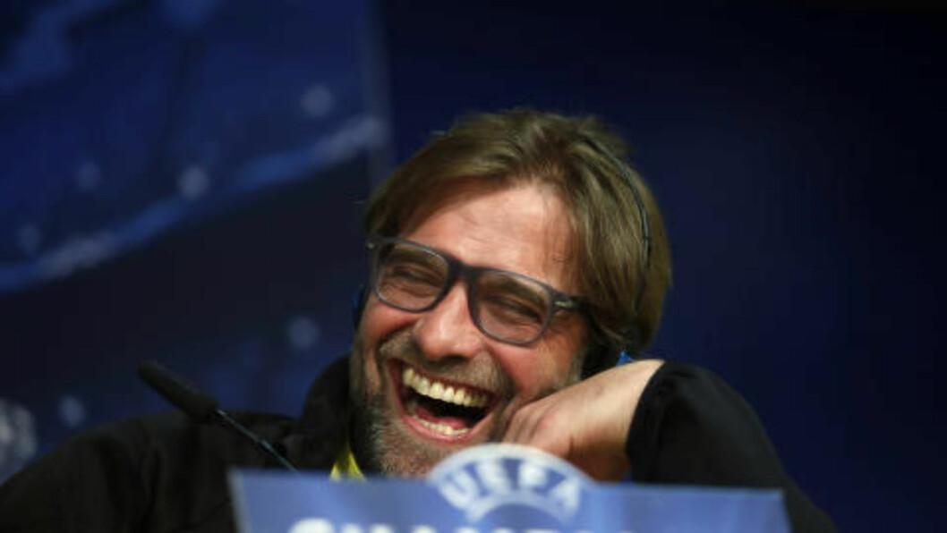 <strong>KARISMATISK:</strong> Smilet til Jürgen Klopp er aldri langt unna. FOto: REUTERS/Susana Vera/NTB Scanpix