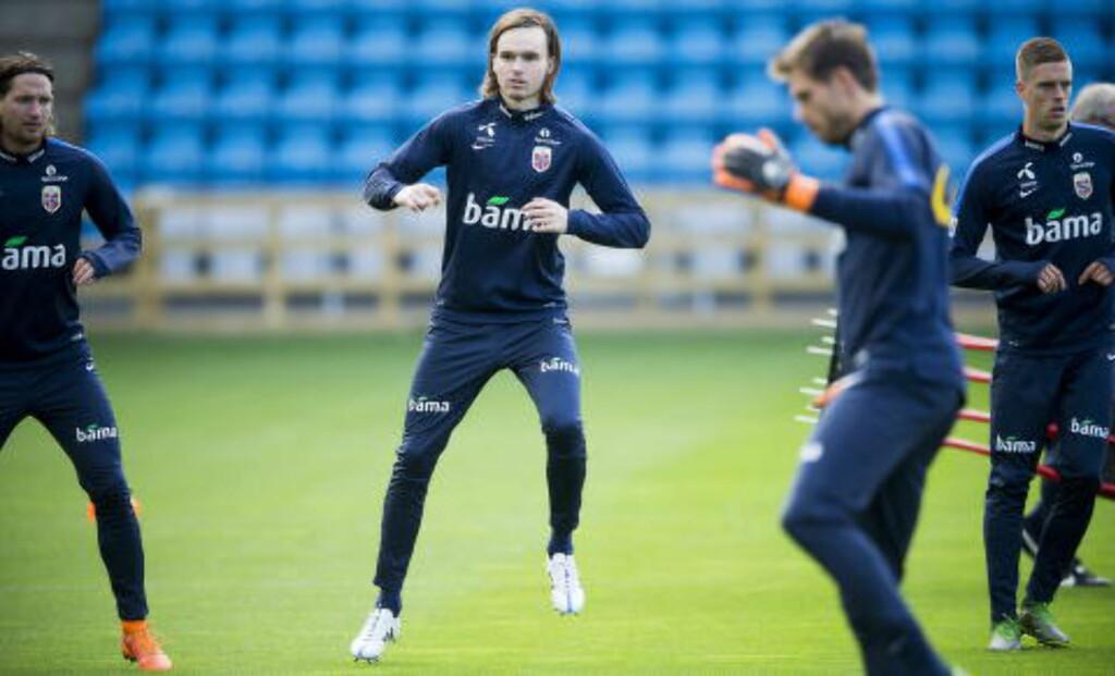 KAN DEBUTERE: Ole Kristian Selnæs kan få A-lagsdebuten mot Malta eller Italia. I dag var RBK-stjerna med på deler av treninga. Foto: Bjørn Langsem / Dagbladet