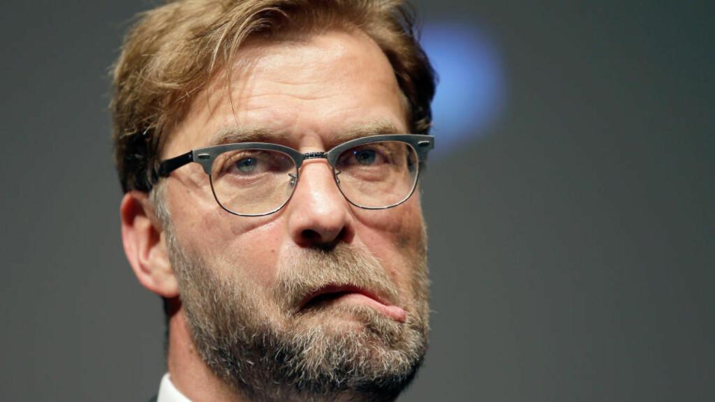 KOBLES TIL MERSEYSIDE: Jürgen Klopp ventes å bli Liverpools neste manager, men tyskeren ville ikke si noe da han møtte pressen i dag. Foto: Michael Sohn / DPA / NTB Scanpix