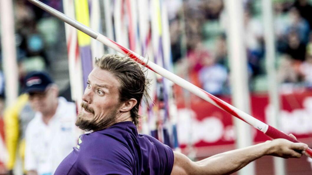 MÅLET: Det begynner å bli lenge siden Andreas Thorkildsen kastet et spyd. Nå nærmer det seg igjen. Foto: Thomas Rasmus Skaug