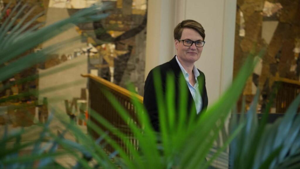 HELT GRØNN:  Klima- og miljøminister Tine Sundtoft (H) melder om et grønt og nyskapende budsjett.  Foto: Øistein Norum Monsen / Dagbladet