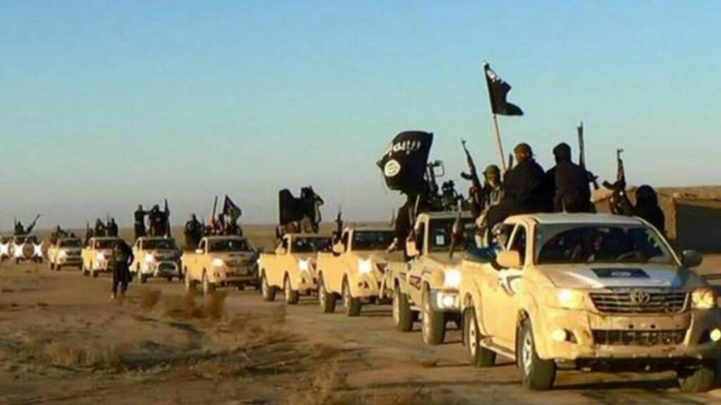 TERRORISTKJØRETØY: Flere bilder og videoer viser terrorister ta seg fram i biler fra bilprodusenten Toyota. Foto: AP