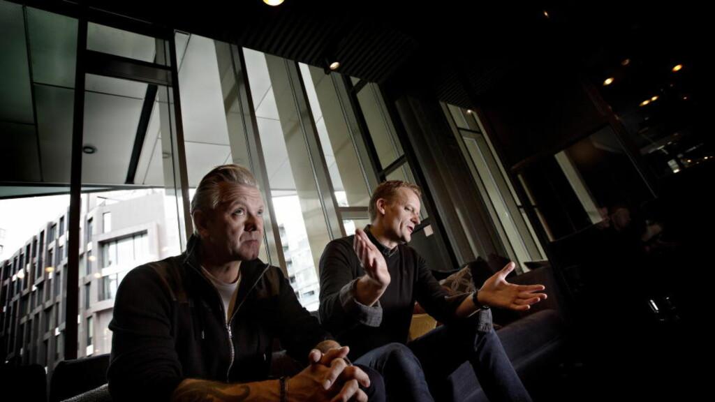 NORGESAKTUELL: Casper Christensen og Frank Hvam var i Norge i går, i forbindelse med kinopremieren av «Klovn Forever» på fredag. Foto: Anita Arntzen / Dagbladet