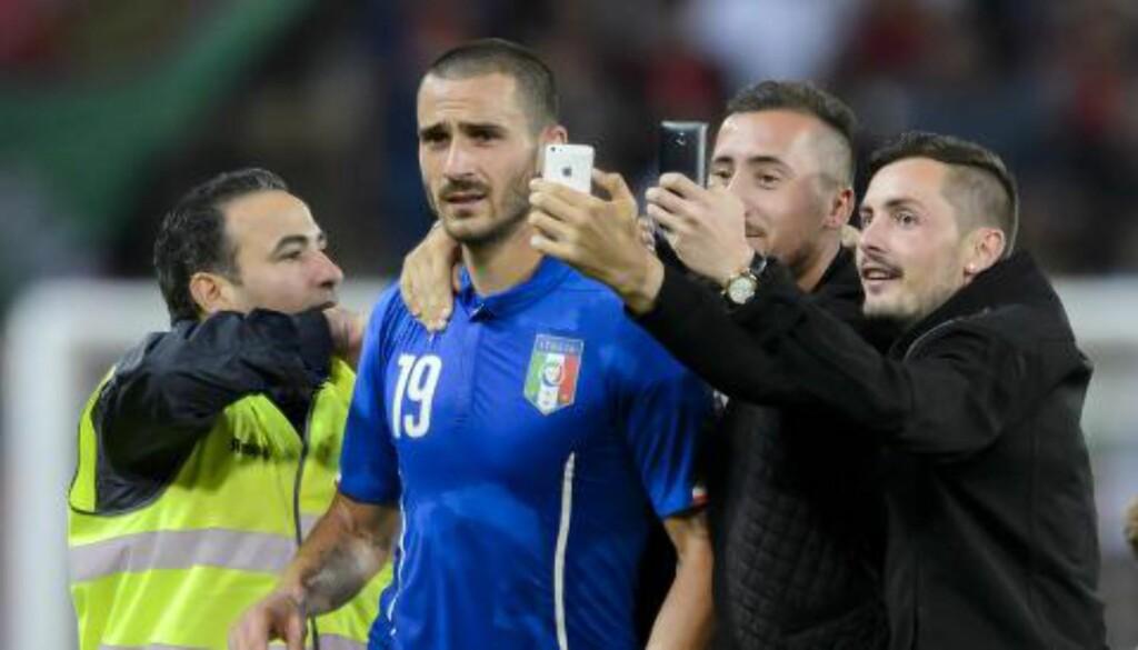 POPULÆR: Leonardo Bonucci har opparbeidet seg en heltestatus i Italia. Foto: Scanpix