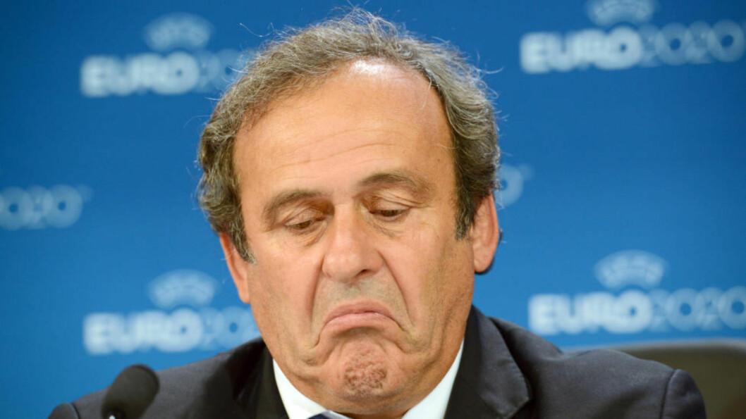 SUSPENDERT: UEFA-president Michel Platini ville bli FIFA-president. Nå er han suspendert fra jobben i 90 dager. Photo: NTB Scanpix