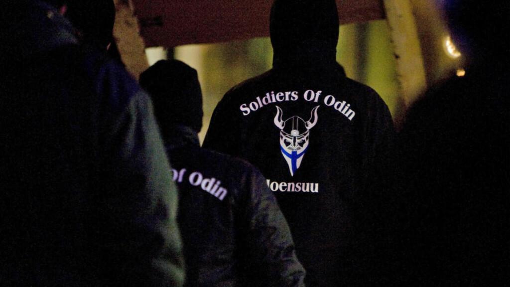 FINSK GRUPPE: «Odins soldater» ble opprettet som en selvjustisgruppe i Finland. Den siste tida er det blitt spredt til Norge, og opprettet flere lokallag, ifølge gruppa selv. Både PST og lokalpoliti er kjent med gruppa. Foto: Minna Raitavuo/Lehtikuva/NTB scanpix