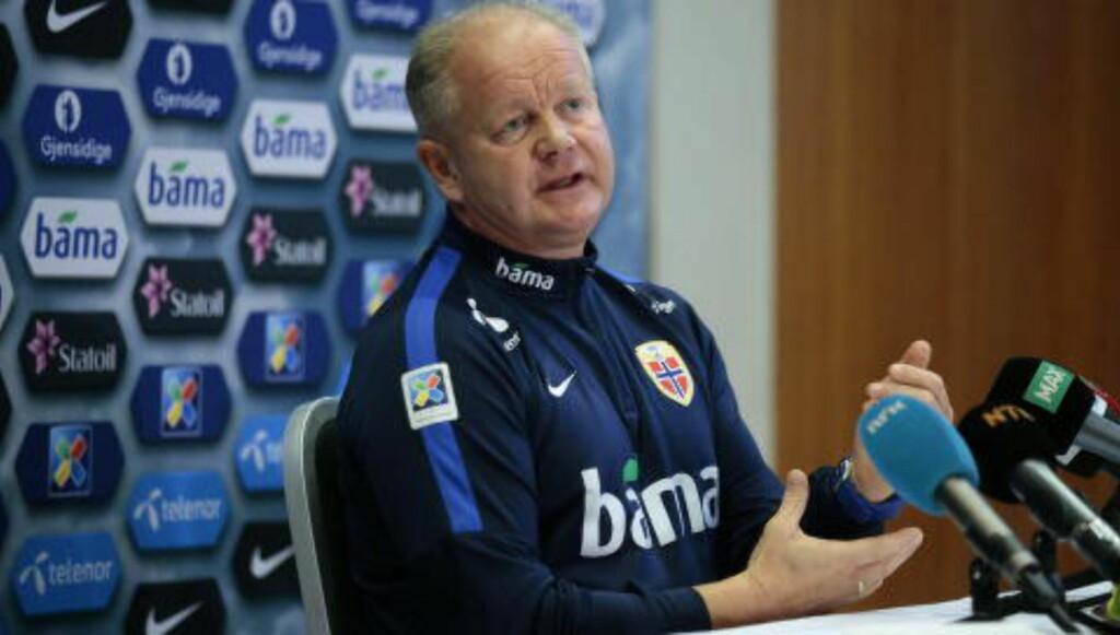 SJEF:  Stefan Strandberg håper å få tillit hos landslagstrener Per-Mathias Høgmo. Her fra dagens pressekonferanse.
