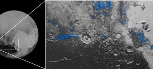 - Is på Pluto, det er helt fantastisk