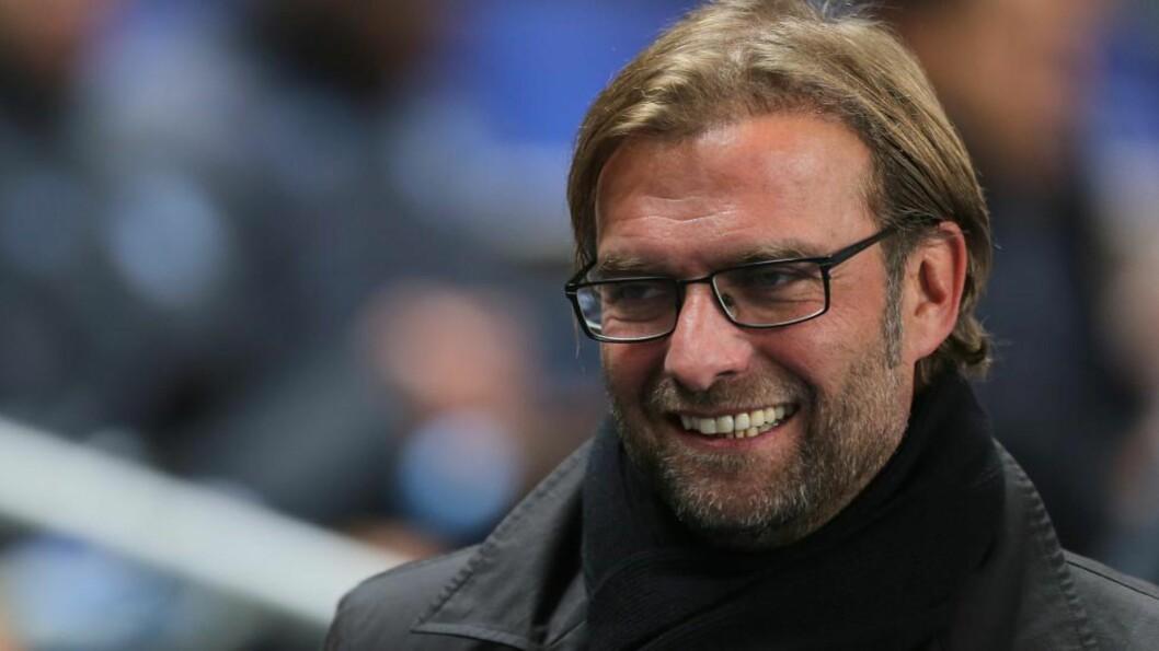 <strong>MØTTE PRESSEN:</strong> Jürgen Klopp ble kastet til ulvene for første gang i som Liverpool-manager i dag. Foto: NTB Scanpix