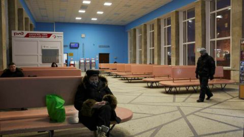 TOMT FOR FLYKTNINGER:  Fredag fikk utenriksdepartementet beskjed om at returene til Russland ville bli stoppet. Russerne sier det er av sikkerhetsmessige årsaker. Etter det Dagbladet erfarer, så er de russiske bussjåførene redde.  Foto: Sergey Grachev / Dagbladet
