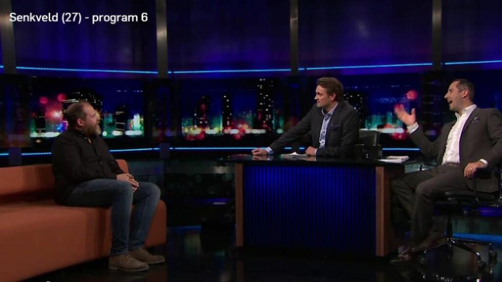 JOBBER SAMMEN: Thomas Numme og Harald Rønneberg har all interesse i at Truls Svendsens nye tv-serie blir en suksess. De er medeiere i selskapet som produserer såvel «Senkveld» som «Oppdrag Norge». (Skjermdump fra sumo.tv.no)