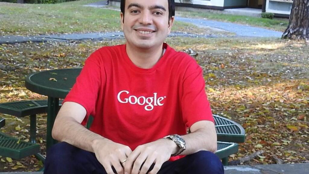 GLAD: Sanmay Ved har tidligere jobbet i Google, og synes det er artig å tenke på at han har eid domenet, om så bare for ett minutt. Foto: Privat.