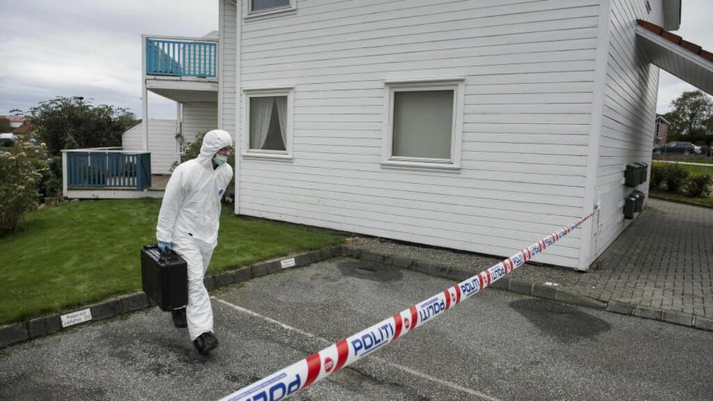 MULIG DRAP: Politiet i Rogaland etterforsker et mulig drap på Bryne der en kvinne ble funnet død fredag. Foto: Carina Johansen / NTB scanpix