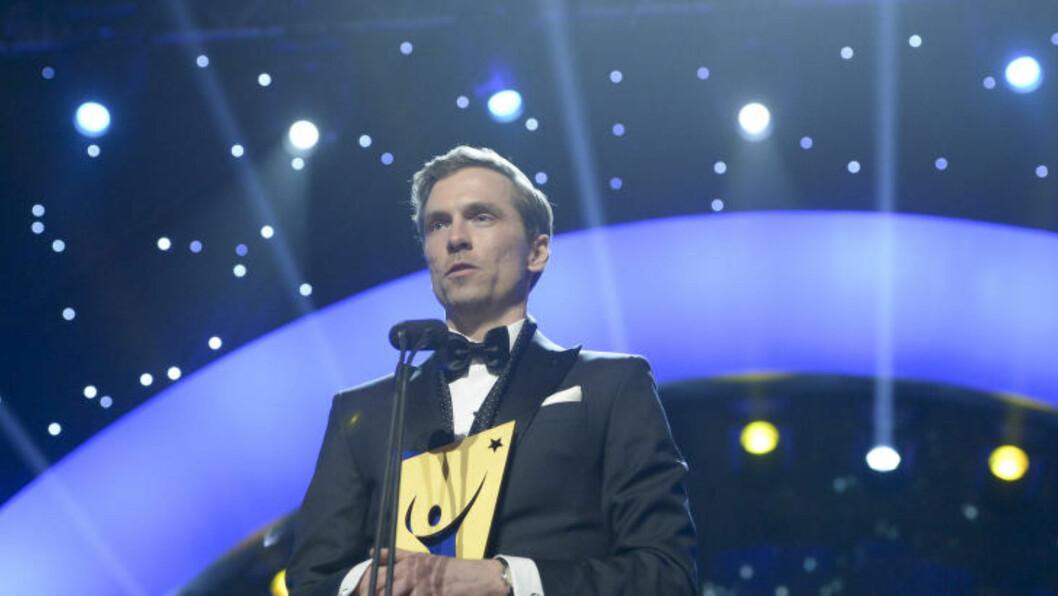VANT:  Johan Olsson fikk prisen som årets mannlige utøver i Sverige på den svenske idrettsgallaen i Globen i Stockholm. Foto Maja Suslin / TT / Kod 10300