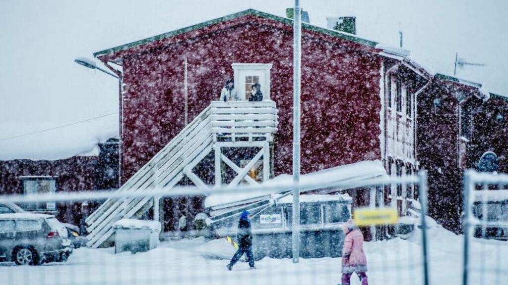 FULL STANS: På fredag erklærte Russland at de ikke vil ta imot asylsøkere fra Norge over grensa på Storskog. Asylsøkerne i Vestleiren i Kirkenes får dermed oppholde seg i landet i uviss tid. Foto: Thomas Rasmus Skaug / Dagbladet