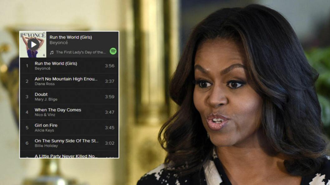 NORSK INNSLAG: Oslo-duoen Nico og Vinz er det eneste mannlige innslaget på Michelle Obamas spilleliste i anledningen den internasjonale likestillingsdagen. Foto: NTB Scanpix / Spotify