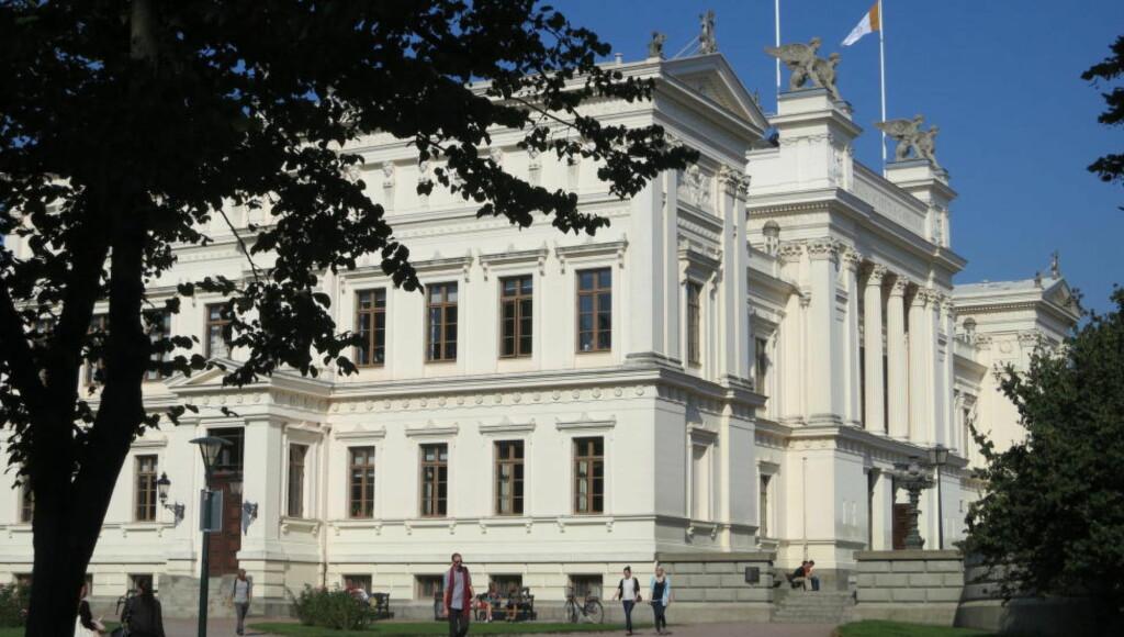 TRUET:  Universitetet i Lund har blitt truet av en anonym bruker på appen Jodl. (Foto: Jorchr, Wikimedia Commons)
